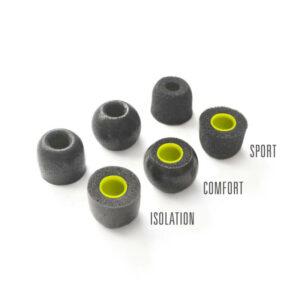 De oordoppen van de X2 dragen bij aan de geluidskwaliteit.